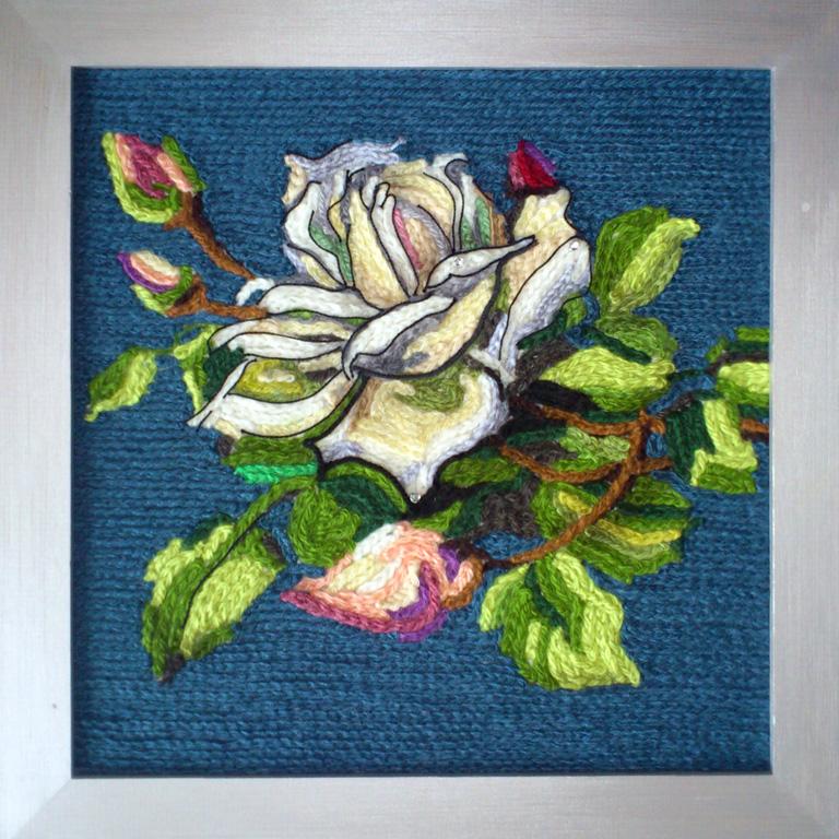 Вязание картин из цветов 484
